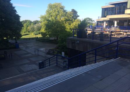 University of Bath Bollards, Railings and Safety markings